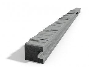 Betonový sloupek 2-str.štípaný kámen koncový přírodní 200 cm pravý