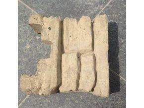 Betonová stříška koncová na sloupek pískovec