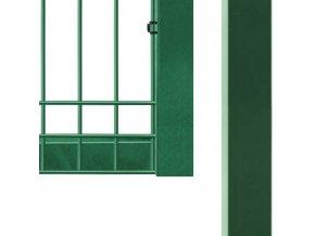 Branka Pilofor Super 2D š.1094 mm x v. dle výběru, se zámkem, Zn+PVC zelená