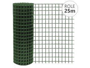 Svařované pletivo Pilonet Super Zn+PVC, oko 50 x 50mm, síla drátu 3,0mm, role 25m, barva zelená, výška dle výběru