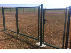 Branka rám pro vlastní výplň zelená šířka 1250 mm x výška dle výběru