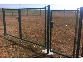 Brána rám pro vlastní výplň, stříbrná, šířka 4000 mm x výšky dle výběru
