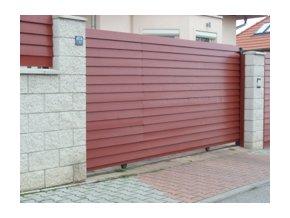 Brána posuvná na kolejnici šířka 4300 mm vč. příslušenství