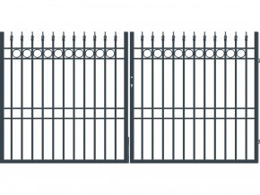 BRISTOL brána dvoukřídlá, šířka 3000, výška 1500 mm
