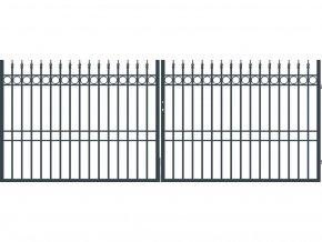 BRISTOL brána dvoukřídlá, šířka 4000, výška 1500 mm