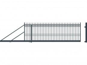 BRISTOL brána posuvná LEVÁ, šířka 4000, výška 1440 mm