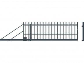 BRISTOL brána posuvná LEVÁ s pohonem, šířka 4000, výška 1440 mm