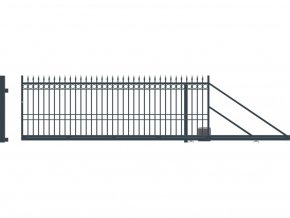 BRISTOL brána posuvná PRAVÁ s pohonem, šířka 4000, výška 1440 mm