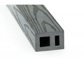 DAMIWPC hranol 60x40 mm, rovná, šedá