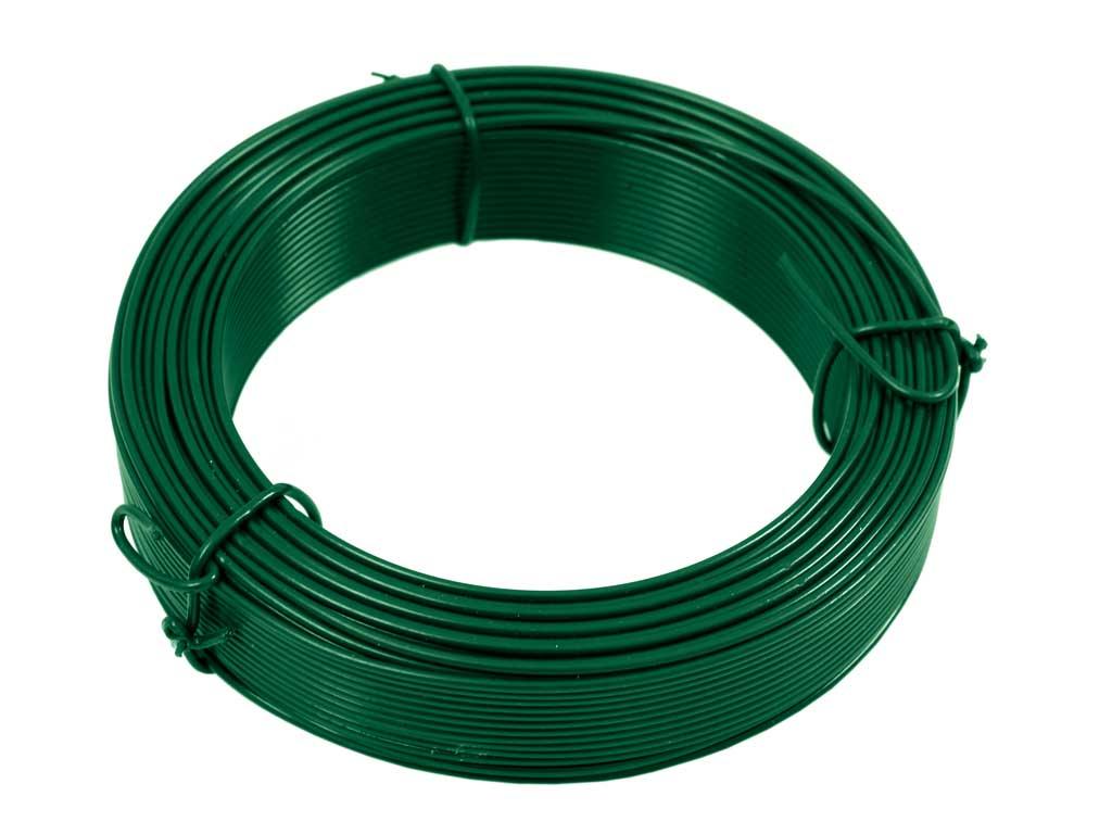 Vázací drát PVC 1,0/1,40 mm 50m zelený