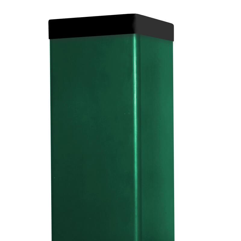 Zelený sloupek 65x65 s krytkou, Zn+PVC 60/60/1,5 mm, z 6m 16005Kg