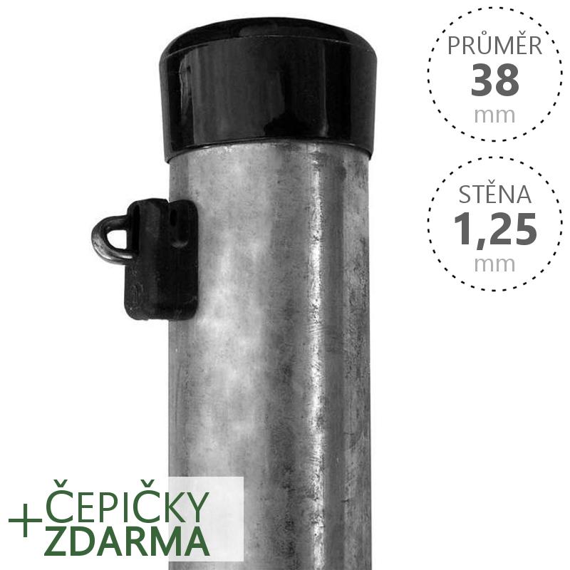 Plotový sloupek IDEAL zinkovaný, průměr 38mm, síla stěny 1,25mm, výška dle výběru Délka v mm  1750 mm