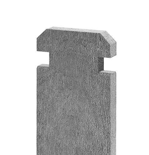 Recyklát prkno na kompostér 130x30 mm, 1,2 m, šedé 4,5Kg