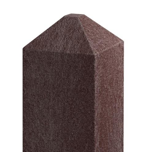 Recyklátový hranol 92x92 mm,2 m, diamant, hnědý 4Kg