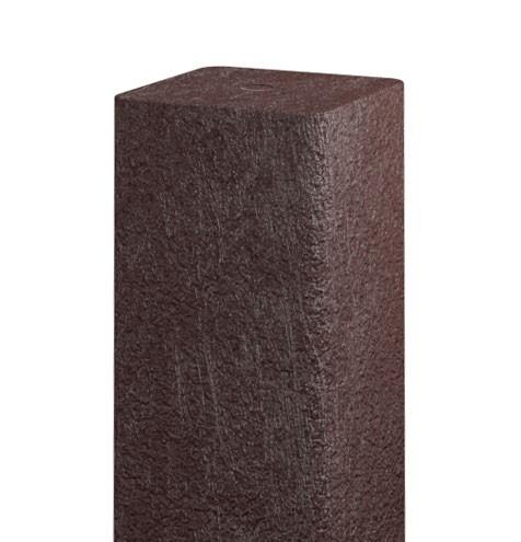 Recyklátový hranol 73x73 mm,2 m, hnědý 4Kg