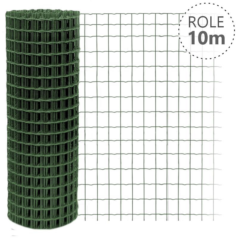 Svařované pletivo Pilonet Middle, oko 50 x 100mm, barva zelená Výška v mm:: 600 mm, Délka role v m:: 25 m
