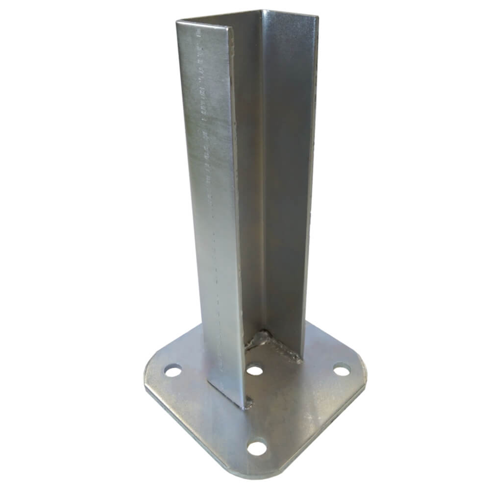 Patka s plotnou ke sloupku 60x60 mm Zn 0,89Kg