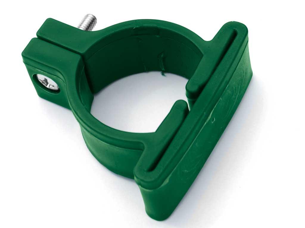 Plastová objímka pro kulatý sloupek pr. 48 mm vč.šroubu Zelená