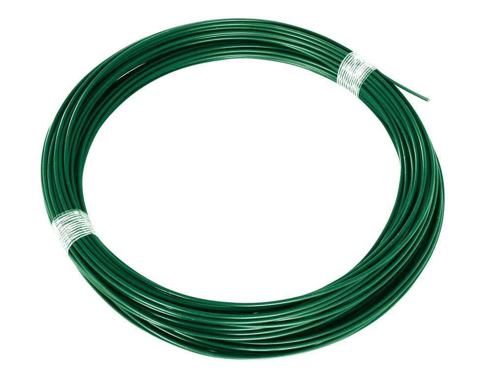 Napínací drát Zn+PVC 2,25/3,4 - 26 bm zelený