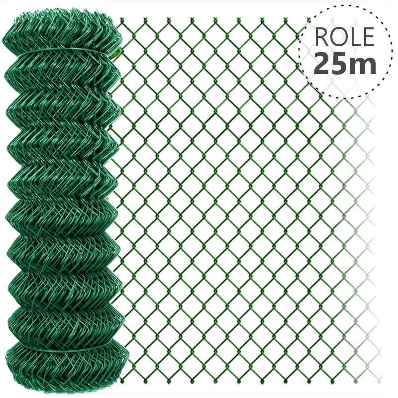 Pletivo Zn+ poplastované IDEAL 1,5/2,5/zelené/role 25m bez ND, 1800 mm do 30Km balení PLOTY | 4Kg