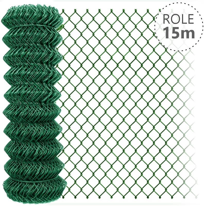 Pletivo Zn+ poplastované IDEAL 1,5/2,5/zelené/role 15m bez ND, 800 mm balení PLOTY | 4Kg