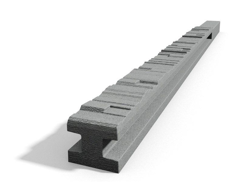 Betonový sloupek 2-str.štípaný kámen průběžný přírodní 150 cm