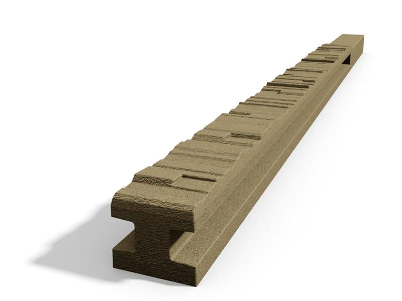 Betonový sloupek 2-str.štípaný kámen průběžný pískovec 150 cm