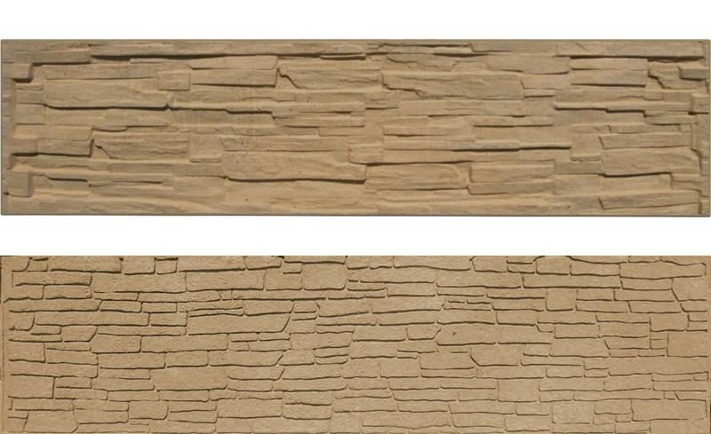 Betonový panel rovný oboustranný štípaný kámen 200 x 50 x 4,5 cm - pískovec 4Kg