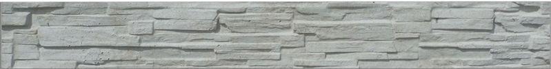 Betonová Podhrabová deska jednostranná 200x25x4,5 cm - štípaný kámen - přírodní