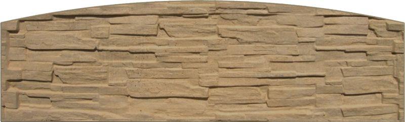 Betonový panel rovný jednostranný 200x50-66x4,5 cm - štípaný kámen - pískovec