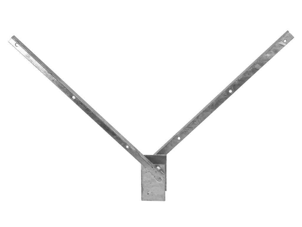 Bavolet 2 stranný na sloupek 60x60 mm-Zn