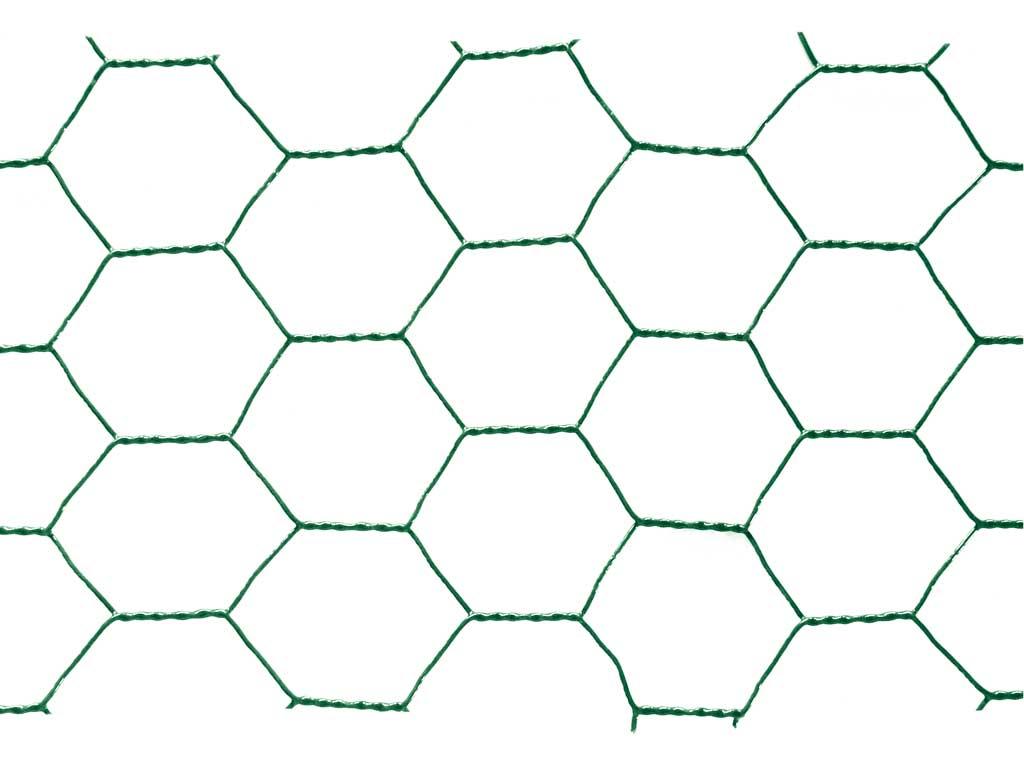 Chovatelské šestihranné pletivo Zn+PVC 25/1000 - bm
