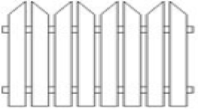 Plotové pole dřevo bez nátěru PP6 do v. 1000 mm