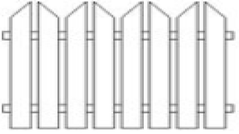 Plotové pole dřevo bez nátěru PP6 do v. 1500 mm