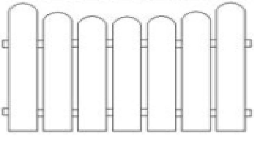 Plotové pole dřevo bez nátěru PP8 do v. 1000 mm