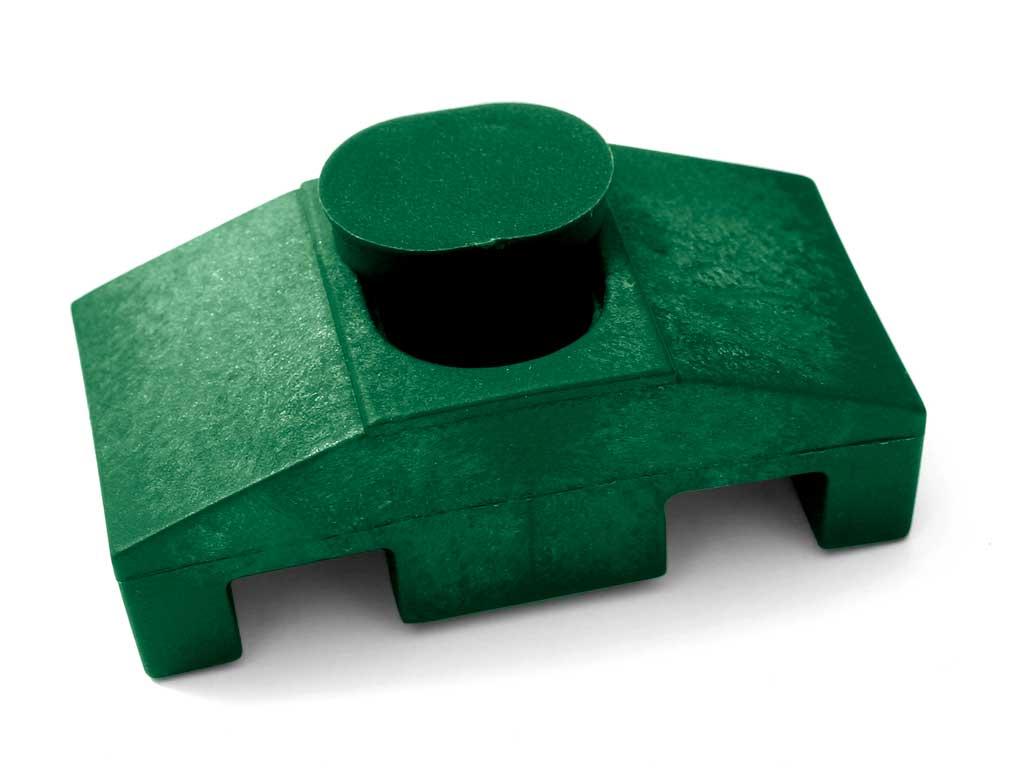 Úchyt panelu Super k jeklovému sloupku vč. texu barva:: zelená