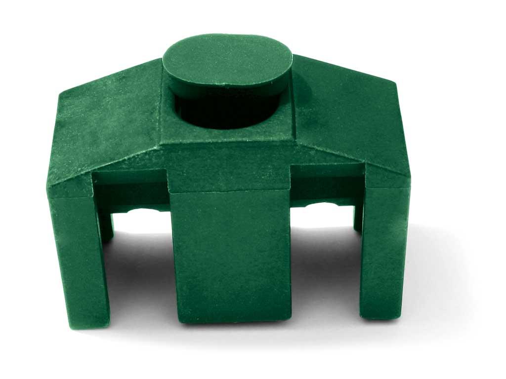 Úchyt panelu Classic k jeklovému sloupku vč.šroubu barva:: zelená