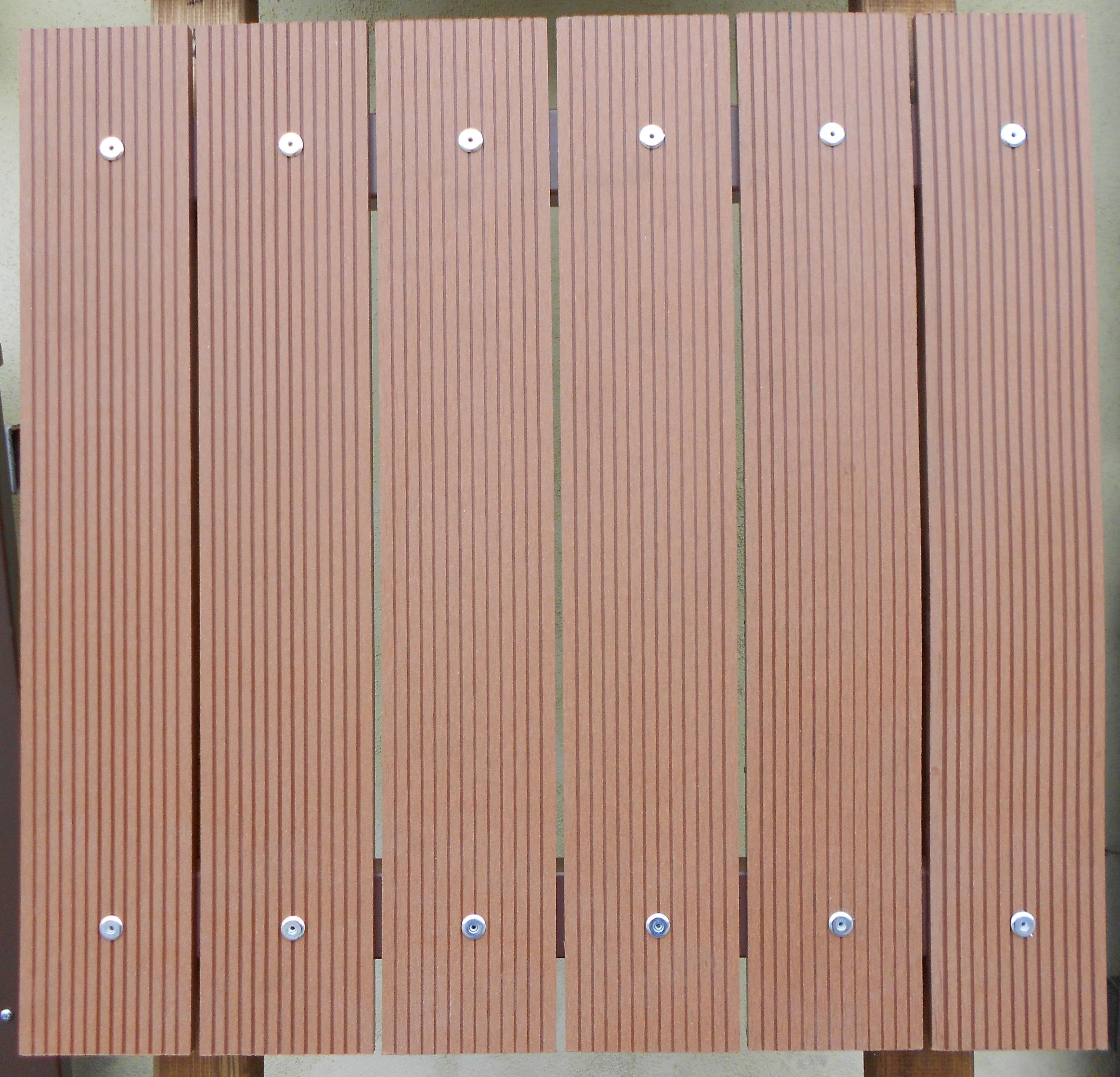 Plotové pole WPC PP2 (drážkované 100x10mm) do v. 2900 mm