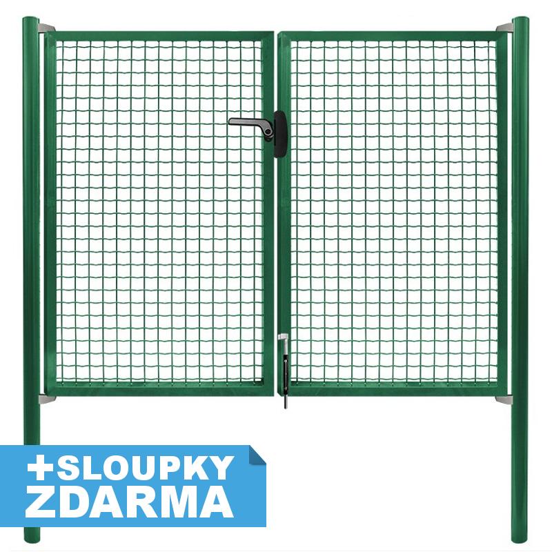 Brána Pilgate, svařovaná síť 50x50mm, zámek, šířka 3024mm x Výška v mm:: 950 mm