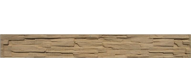 Betonový panel rovný jednostranný 200x25x4 cm - štípaný kámen - pískovec
