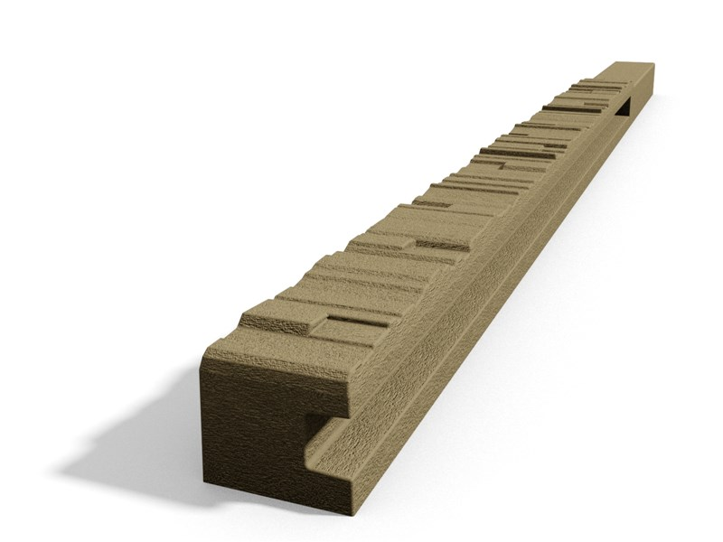 Betonový sloupek štípaný kámen koncový pískovec 200 cm pravý