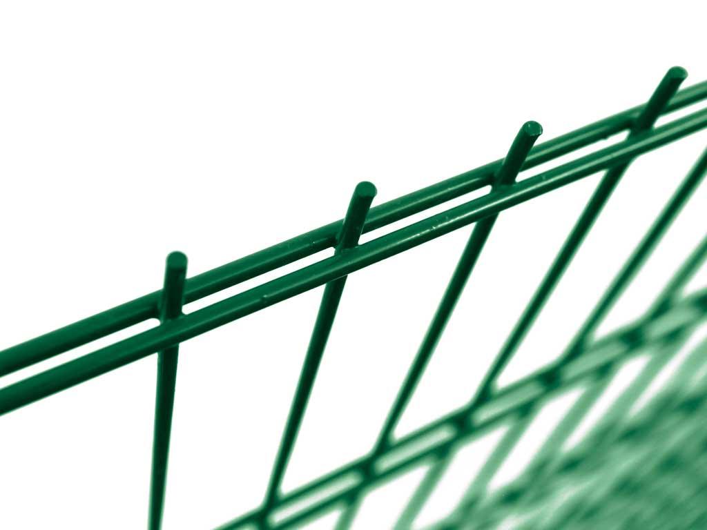Pilofor 2D bez prolisu Super Zn+ PVC zelená/2x6 vod.+5 mm sv., výška dle výběru Výška v mm:: 1630