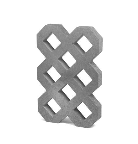 Recyklát zatravnovací dlažba VD600,šedá