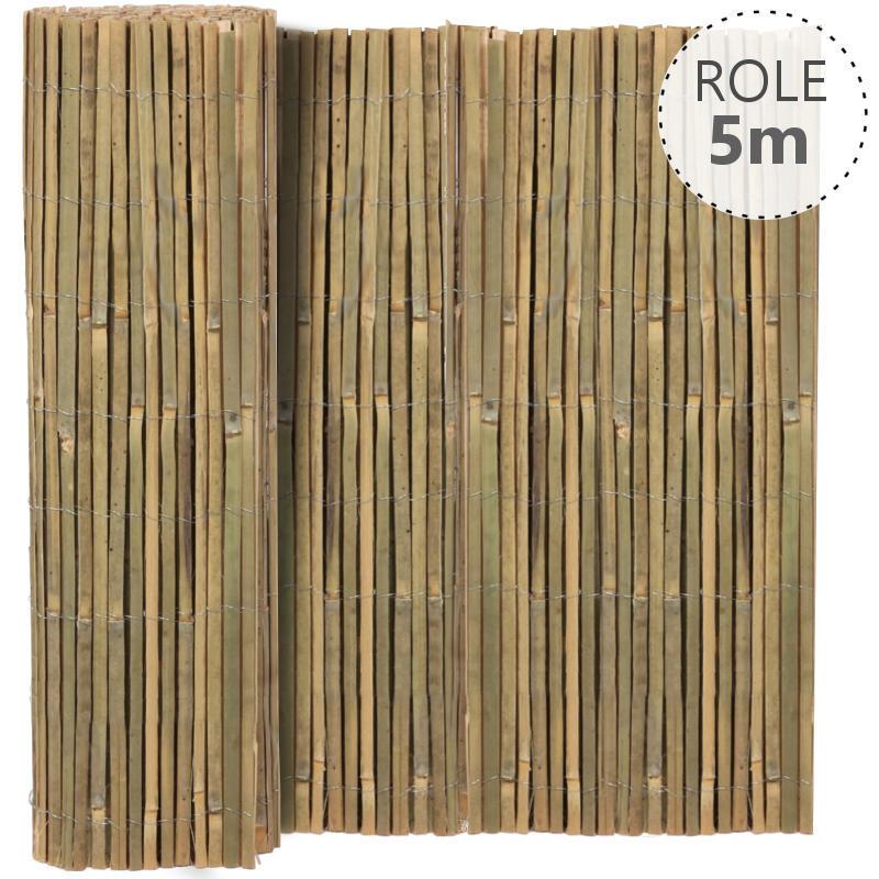Štípaný bambus výška dle výběru / role 5 m výška v mm: 1000 mm