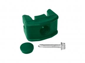 Úchyt panelu na kulatý sloupek 48mm PVC vč. šroubu Barva: Zelená