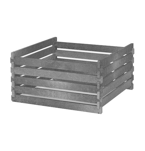 Recyklát kompostér 1200x1200x940 mm, šedý 90Kg