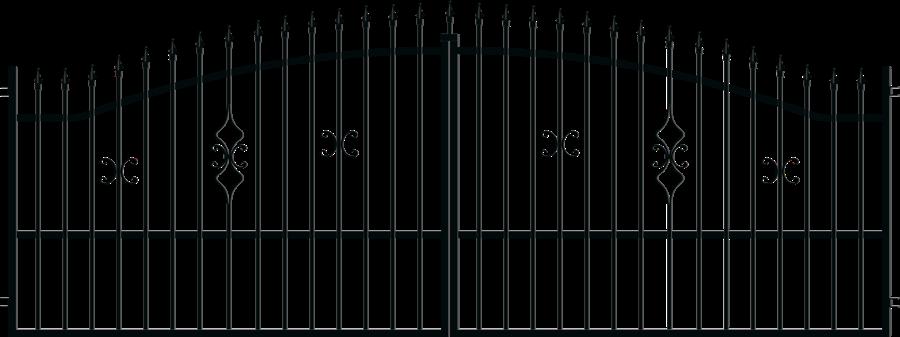 TOLA brána šířka 4000 x výška 1500 mm