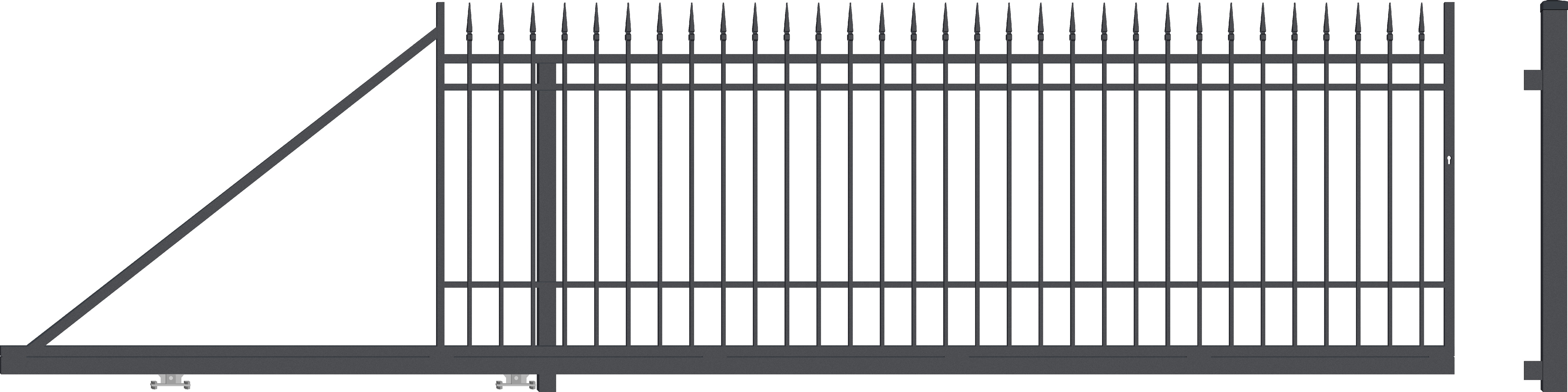 PORTLAND brána posuvná LEVÁ, šířka 4000 x výška 1540 mm