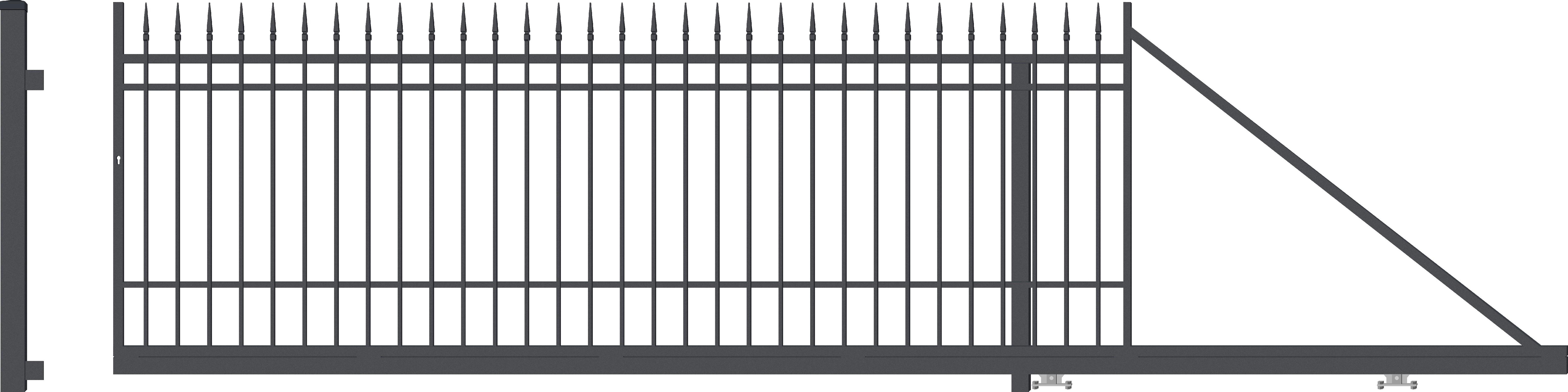 PORTLAND brána posuvná PRAVÁ, šířka 4000 x výška 1540 mm