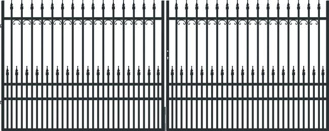 Brána dvoukřídlá York, š. 4000/v.1600 mm 4Kg